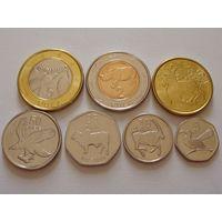 Ботсвана. набор 7 монет 5 тхебе - 5 пула 2013 год