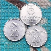 Словакия 20 геллер, UNC