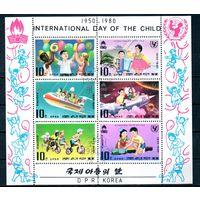 Детский праздник КНДР 1980 год  1 малый лист из 6 марок