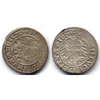 Полугрош 1520, Жигимонт Старый, Вильно. Окончания легенд: Ав - ':15Z0', Рв - 'LITVAИIE:.', VI группа редкости