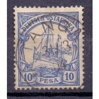 Германия Восточная Африка 10 песо 0Wz ГАШ 1901 г