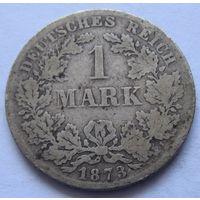 Германия 1 марка 1873 отметка монетного двора D - Мюнхен