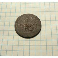 4 пфеннига 1821 A - Берлин