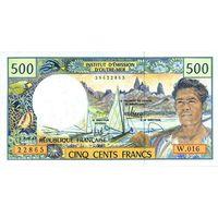 Французские Тихоокеанские Территории 500 франков образца 1990-2010 года UNC p1h