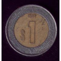1 Песо 1997 год Мексика