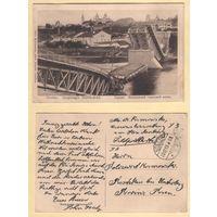 Гродна. Узарваны гарадзкі мост. Фельдпошта 23.12.1915 год