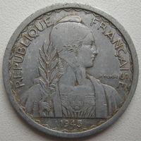 Индокитай 10 сантимов 1945 г. (d)