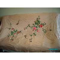 Покрывало китайское винтажное (натуральный шёлк, ручная вышивка)ТОРГ