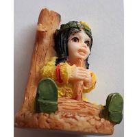Маленькая индианка с дудочкой