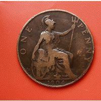 16-10 Великобритания, 1 пенни 1904 г.