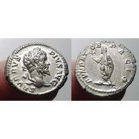 Римская Империя, Септимий Север, 208 год, денарий.