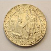 Чехословакия, 100 крон 1948 год, Серебро