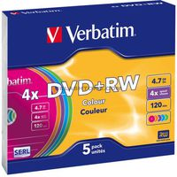 DVD RW 4.7Gb 4x Verbatim color