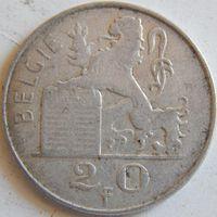 12. Бельгия 20 франков 1949 год - 3, серебро