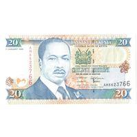YS: Кения, 20 шиллингов 1996, P# 35a1, VF