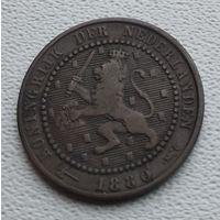 Нидерланды 1 цент, 1880 8-9-3