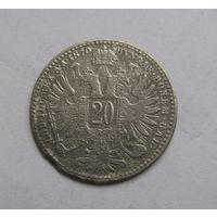 20 крейцеров 1870 Австро Венгрия