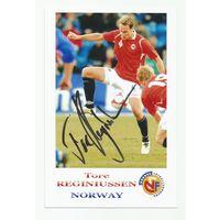 Tore Reginiussen(Норвегия). Фотография с живым автографом #1