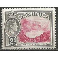 Доминика. Король Георг VI. Кипящее озеро. 1938г. Mi#96.