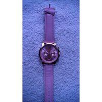 """Часы наручные кварцевые, женские. """"Reloj Mujer """" ремешок искуственная кожа, розовый. распродажа"""