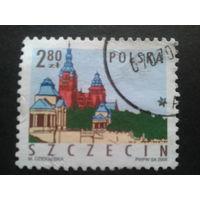 Польша 2005 стандарт Щецин Mi-1,5 евро гаш.
