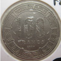 Габон 100 франков 1977 г.