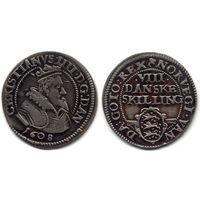 8 скиллингов 1608, Дания, Кристиан IV, коллекционное состояние!