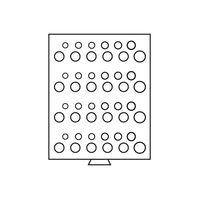 Leuchtturm-MBG SET D4.Планшет-кассета для монет, на 48 ячеек.