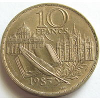 1k Франция 10 франков 1983 Стендаль В КАПСУЛЕ распродажа коллекции