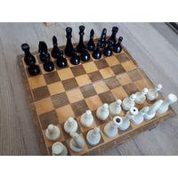 Шахматы. Крупный набор. СССР. Карболит