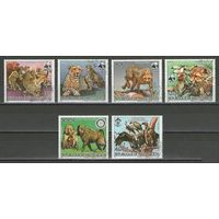 Марки Верхняя Вольта 1984год. Всемирный фонд охраны природы. Серия из 6 марок 957-961