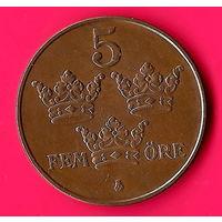16-08 Швеция, 5 эре 1950 г.