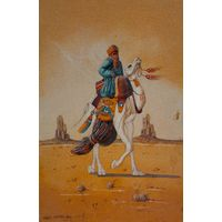 Рельефная картина, нарисованная песком пустыни Сахара. Привезена из Африки.