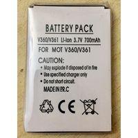 Новый аккумулятор 700 maH 3.7В. Для Motorola V360, V361. Литий-ионный. Батарея АКБ. 700maH маЧ, 3.7 V В