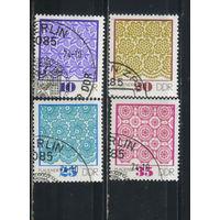 Германия ГДР 1974 Кружева из Плауэна Полная Спецгашение#1963-6
