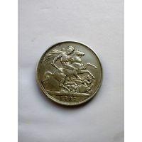 Британия. 1 крона 1887 г. Виктория!