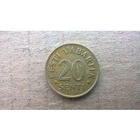 Эстония 20 сентов, 1992г. (**)
