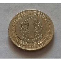 1 лира, Турция 2009 г.