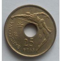 25 песет 1991. Испания. XXV летние Олимпийские Игры - Барселона 1992.