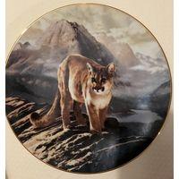 Коллекционная тарелка The Cougar 1991г