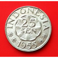 23-05 Индонезия, 25 сен 1955 г. Единственное предложение монеты данного типа на АУ