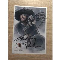 Фото с автографом актёра Джеффри Раша.