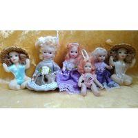 Фарфоровые куклы, мини куколки фарфоровые