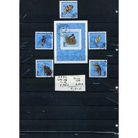 """МАДАГАСКАР, ,1990,  ЛЕМУРЫ  5м и БЛОК (на """"СКАНЕ"""" справочно приведены номера и цены по Michel)"""