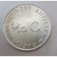 Нидерланды. 1\10 гульдена 1970. Серебро  .118