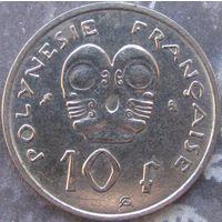 1к Французкая Полинезия 10 франков 1972 В ХОЛДЕРЕ распродажа коллекции