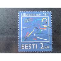 Эстония 1994 Олимпийские игры, коньки Михель-1,0 евро гаш