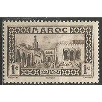 Французское Марокко. Дворец султана в Танжере. 1933г. Mi#93.