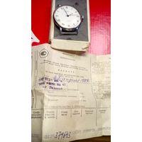 """Часы """"Луч-костюмные"""" 2209 состояние почти как с магазина коробочка+паспорт в комплекте с 1 рубля!"""