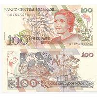 Бразилия 100 новых крузадо образца 1989 года UNC p220a